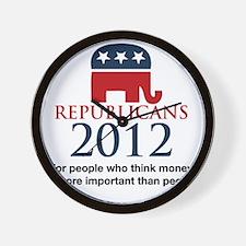 Republicant-money Wall Clock