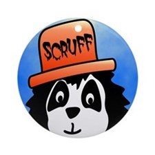 Scruff ipad Round Ornament