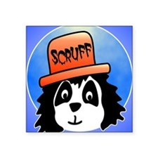 "Scruff ipad Square Sticker 3"" x 3"""