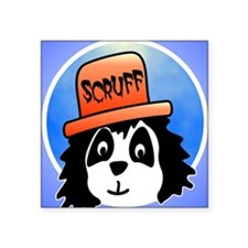 "Scruff iph4 Square Sticker 3"" x 3"""
