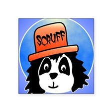 "Scruff poster Square Sticker 3"" x 3"""