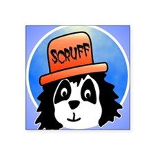 "Scruff iphone Square Sticker 3"" x 3"""