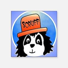 """Scruff iphone Square Sticker 3"""" x 3"""""""