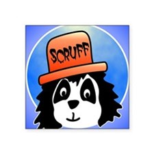 "Scruff square Square Sticker 3"" x 3"""