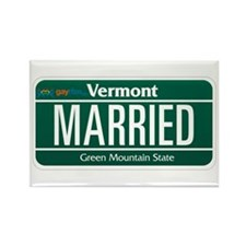 Vermont Marriage Equality Rectangle Magnet