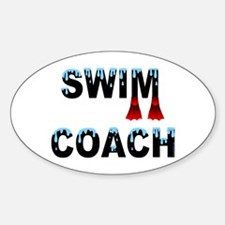 Swim Coach Oval Decal