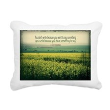Write To Say Quote on La Rectangular Canvas Pillow