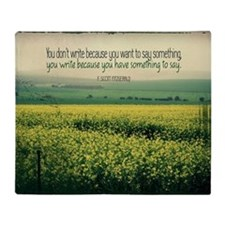 Write To Say Quote on Large Framed P Throw Blanket