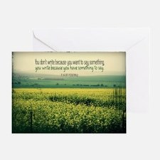 Write To Say Quote on Large Framed P Greeting Card