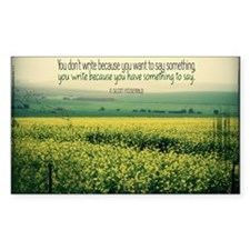 Write To Say Quote on Large Fr Decal