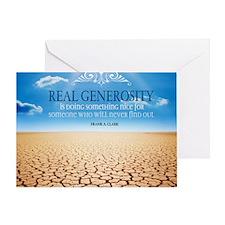 Generosity Quote on Large Framed Pri Greeting Card