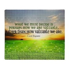 Valuable and Decide Quote on Large F Throw Blanket