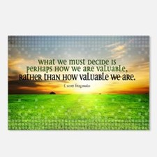 Valuable and Decide Quote Postcards (Package of 8)