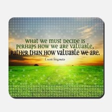 Valuable and Decide Quote on Large Frame Mousepad