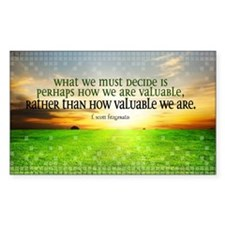 Valuable and Decide Quote on L Decal