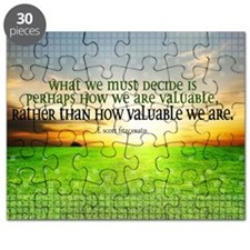 Valuable and Decide Quote on Large Framed P Puzzle