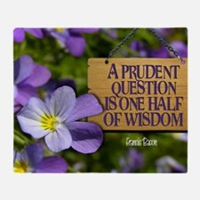 Prudent Question  Quote on Large Fra Throw Blanket