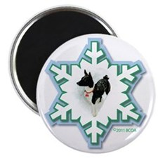 MABC_1A BLACK Blue  Green Snowflake_png Magnet
