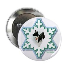 "MABC_1A BLACK Blue  Green Snowflake_p 2.25"" Button"