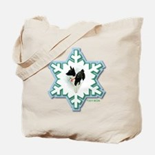 MABC_1A BLACK Blue  Green Snowflake_png Tote Bag