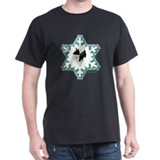 MABC_1A BLACK Blue  Green Snowflake_p T-Shirt