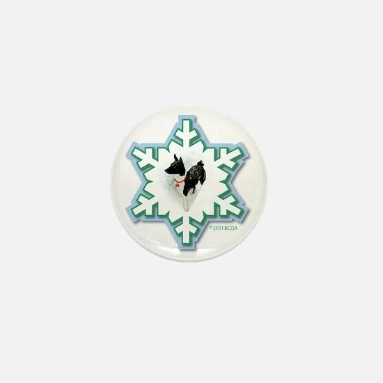 MABC_1A BLACK Blue  Green Snowflake_pn Mini Button