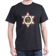 MABC_3B NEW BRINDLE Red  Green Snowfl T-Shirt