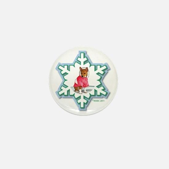 MABC_2A NEW RED Blue  Green Snowflake_ Mini Button