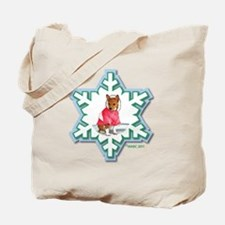 MABC_2A NEW RED Blue  Green Snowflake_png Tote Bag