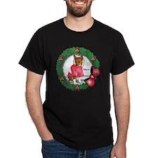 MABC_Red Basneji Puppy w- Red Berries T-Shirt