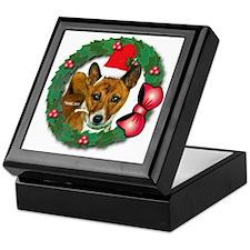 MABC_Brindle Baseneji w-Red Berries   Keepsake Box