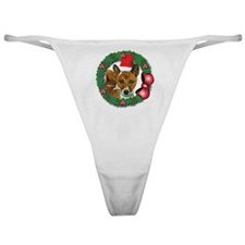 MABC_Brindle Baseneji w-Red Berries  Classic Thong