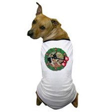 MABC_TRI Basenji Pup w-Red Balls  Bow  Dog T-Shirt