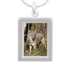 ornament Silver Portrait Necklace