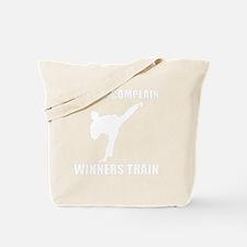 Martial Arts Winners Train White Tote Bag