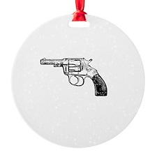 Dad Guns White Ornament