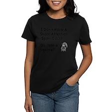 Short Attention Black Tee