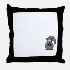 Short Attention White Throw Pillow