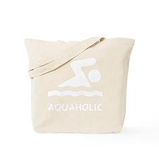 Aquaholic Swimmer White Tote Bag
