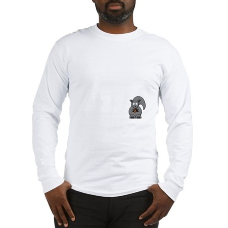 Short Attention White Long Sleeve T-Shirt