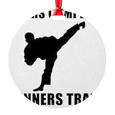 Martial Arts Winners Train Black Ornament