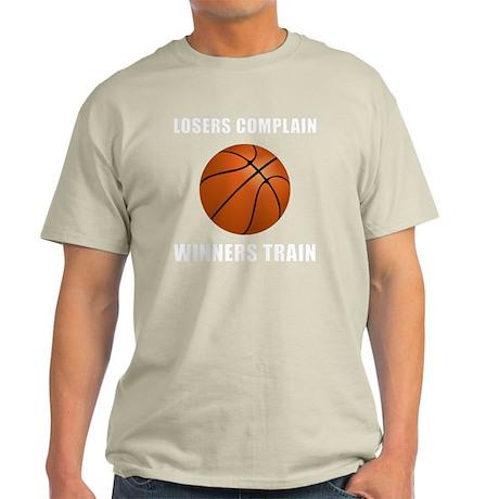 Winners Train Basketball White Light T-Shirt