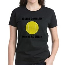 Winners Train Tennis Black Tee