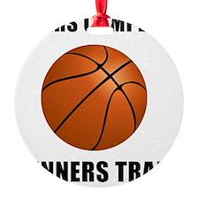 Winners Train Basketball Black Ornament