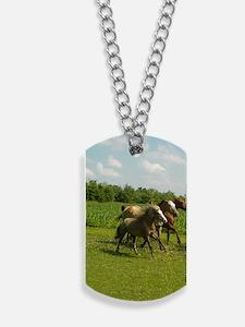 three horses 2 Dog Tags