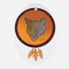 Coyote Totem Oval Ornament