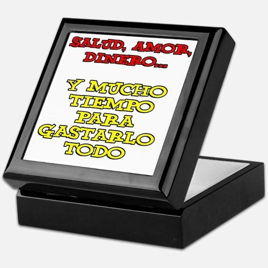Salud Amor Dinero Glass Keepsake Box