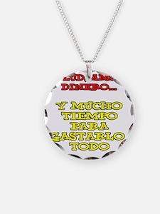 Salud Amor Dinero Glass Necklace