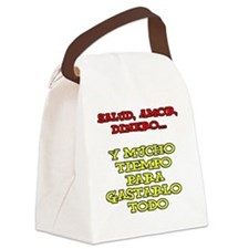 Salud Amor Dinero Glass Canvas Lunch Bag
