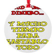Salud Amor Dinero Glass Ornament